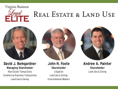 Three Land Lawyers are listed in the 2017 edition of Virginia Business Legal Elite